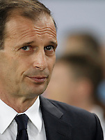 Calcio, Serie A: Juventus vs Lazio. Torino, Juventus Stadium, 20 aprile 2016.<br /> Juventus coach Massimiliano Allegri waits for the start of the Italian Serie A football match between Juventus and Lazio at Turin's Juventus Stadium, 20 April 2016.<br /> UPDATE IMAGES PRESS/Isabella Bonotto