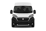 Car photography straight front view of a 2016 Fiat Ducato MultiJet-MH2 4 Door Cargo Van Front View