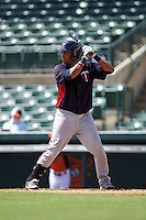 Minnesota Twins Amaurys Minier (24) during an instructional league game against the Baltimore Orioles on September 22, 2015 at Ed Smith Stadium in Sarasota, Florida.  (Mike Janes/Four Seam Images)