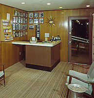 Crown Motel, Wildwood, New Jersey, Lobby front desk. 1960's