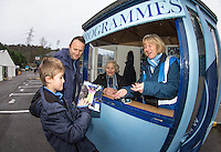 Wycombe volunteer Programme sellers during the Sky Bet League 2 match between Wycombe Wanderers and Yeovil Town at Adams Park, High Wycombe, England on 14 January 2017. Photo by Andy Rowland / PRiME Media Images.