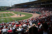 NWA Democrat-Gazette/ANDY SHUPE<br /> Arkansas and Ole Miss fans fill the seats Saturday, June 8, 2019, during the sixth inning in the NCAA Super Regional game at Baum-Walker Stadium in Fayetteville. Visit nwadg.com/photos to see more photographs from the game.