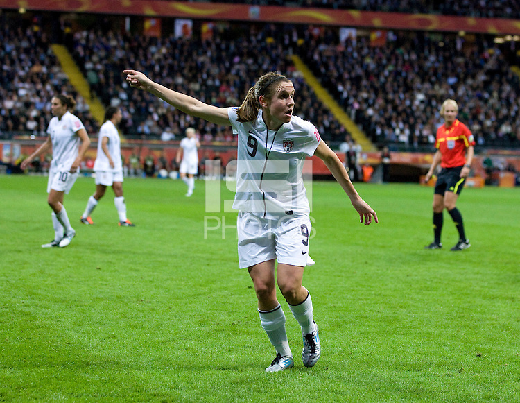 Heather O'Reilly..  Japan won the FIFA Women's World Cup on penalty kicks after tying the United States, 2-2, in extra time at FIFA Women's World Cup Stadium in Frankfurt Germany.