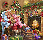 Marcello, CHRISTMAS SANTA, SNOWMAN, WEIHNACHTSMÄNNER, SCHNEEMÄNNER, PAPÁ NOEL, MUÑECOS DE NIEVE, paintings+++++,ITMCXM1514,#X# ,fireplace