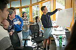 Duke first-year students work on team projects together with oversight and guidance from faculty during a new Engineering Design Pod class. The program is part of a new initiative designed to give all engineering students project- and problem-based experiences right from the start. Some of the projects include a prosthetic arm for nursing students learning to put in IV lines, an automated feeder for the Duke Lemur Center, and a drone that collects water samples for the Duke Marine Lab.