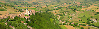 Panoramic arial Papal Basilica of St Francis of Assisi, ( Basilica Papale di San Francesco ) Assisi, Italy