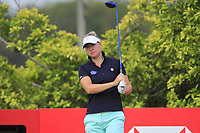 Nicole Broch Larsen (DEN) in action on the 3rd during Round 2 of the HSBC Womens Champions 2018 at Sentosa Golf Club on the Friday 2nd March 2018.<br /> Picture:  Thos Caffrey / www.golffile.ie<br /> <br /> All photo usage must carry mandatory copyright credit (&copy; Golffile | Thos Caffrey)