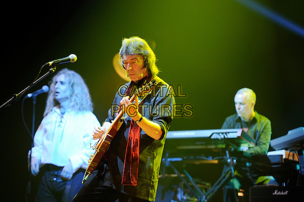 Steve Hackett.performing in concert, Hammersmith Apollo, London, England. .10th May 2013.on stage live gig performance music half length guitar black top   .CAP/MAR.© Martin Harris/Capital Pictures.