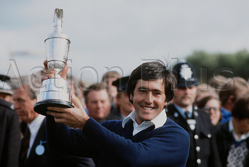 20.07.1979: Royal Lytham and St. Annes, England. Spanish Golfer SEVE BALLESTEROS (ESP) poses with the trophy after winning the 1979 British Open at Royal Lytham, St Annes.