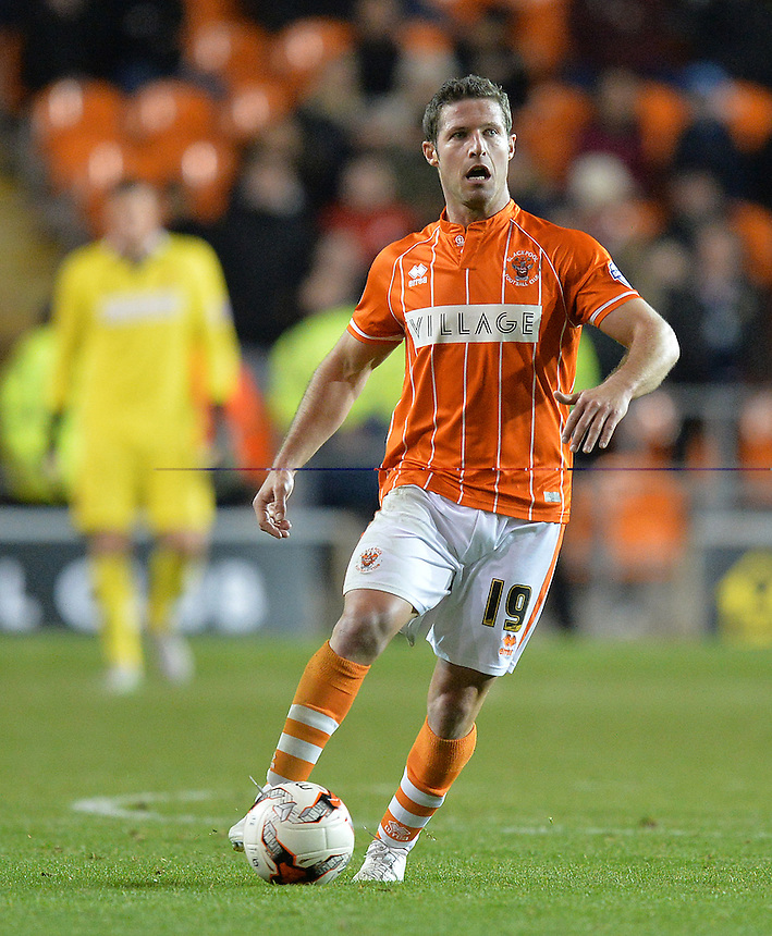 Blackpool's David Norris<br /> <br /> Photographer Dave Howarth/CameraSport<br /> <br /> Football - The Football League Sky Bet League One - Blackpool v Millwall - Tuesday 20th October 2015 - Bloomfield Road - Blackpool<br /> <br /> &copy; CameraSport - 43 Linden Ave. Countesthorpe. Leicester. England. LE8 5PG - Tel: +44 (0) 116 277 4147 - admin@camerasport.com - www.camerasport.com