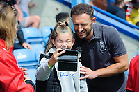 Lincoln City's Neal Eardley poses for a photograph with fans<br /> <br /> Photographer Chris Vaughan/CameraSport<br /> <br /> Football Pre-Season Friendly (Community Festival of Lincolnshire) - Gainsborough Trinity v Lincoln City - Saturday 6th July 2019 - The Martin & Co Arena - Gainsborough<br /> <br /> World Copyright © 2018 CameraSport. All rights reserved. 43 Linden Ave. Countesthorpe. Leicester. England. LE8 5PG - Tel: +44 (0) 116 277 4147 - admin@camerasport.com - www.camerasport.com