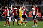 John Lundstram of Sheffield United claps the fans during the Premier League match at Bramall Lane, Sheffield. Picture date: 5th December 2019. Picture credit should read: James Wilson/Sportimage
