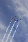 Israel, Tel Aviv-Yafo, the Air Force show on Independence Day