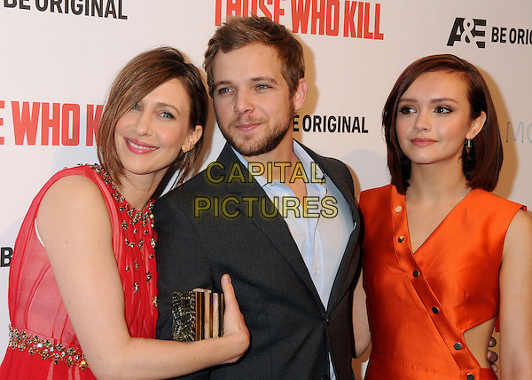 26 February 2014 - Hollywood, California - Vera Farmiga, Max Thieriot, Olivia Cooke. &quot;Bates Motel&quot; Season 2 and &quot;Those Who Kill&quot; Premiere Party held at Warwick. <br /> CAP/ADM/BP<br /> &copy;Byron Purvis/AdMedia/Capital Pictures