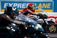 Sep 15, 2019; Mohnton, PA, USA; NHRA pro stock motorcycle rider Angelle Sampey during the Reading Nationals at Maple Grove Raceway. Mandatory Credit: Mark J. Rebilas-USA TODAY Sports