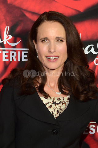 PASADENA. CA - JANUARY 14: Andie MacDowell at the Hallmark Winter 2017 TCA Event at Tournament House in Pasadena, California on January 14, 2017. Credit: David Edwards/MediaPunch