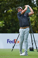 Cameron Smith (USA) watches his tee shot on 8 during round 3 of the WGC FedEx St. Jude Invitational, TPC Southwind, Memphis, Tennessee, USA. 7/27/2019.<br /> Picture Ken Murray / Golffile.ie<br /> <br /> All photo usage must carry mandatory copyright credit (© Golffile | Ken Murray)