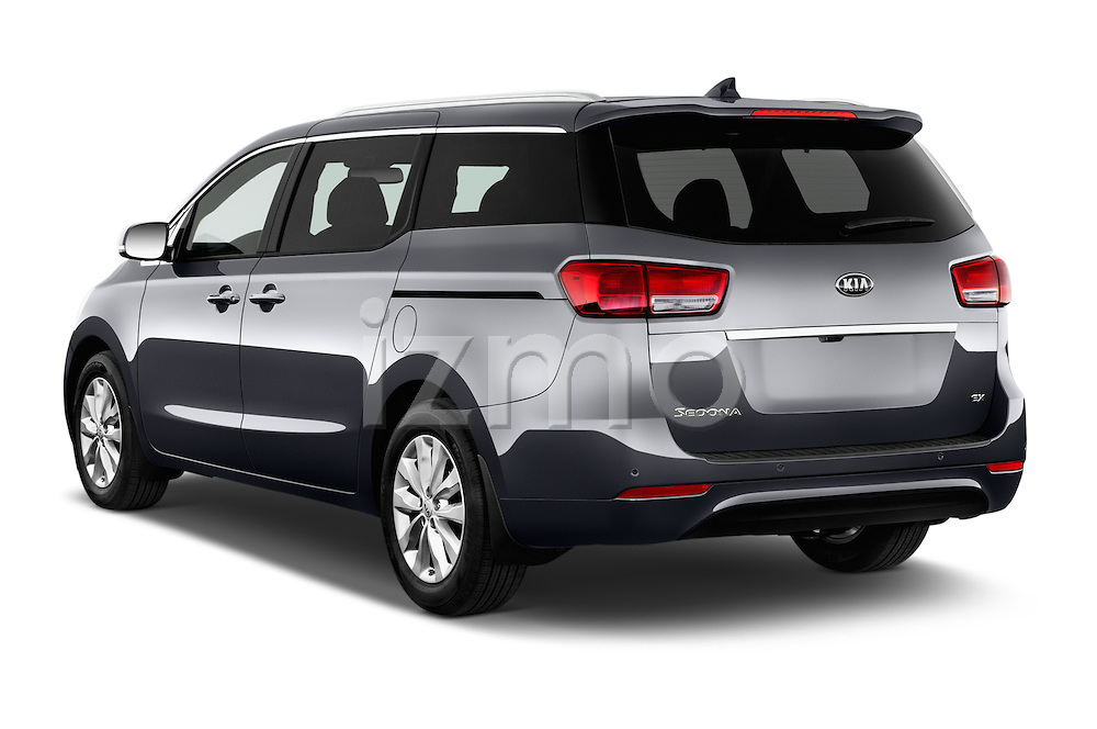 Car pictures of rear three quarter view of 2015 KIA Sedona EX 5 Door Minivan Angular Rear