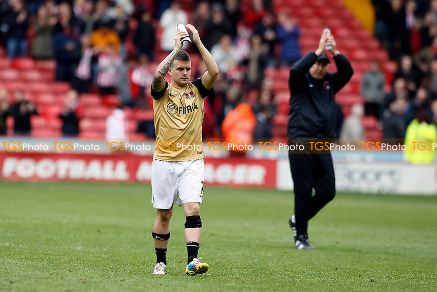 O's Dean Cox at the end<br /> Sheffield United v Leyton Orient - SkyBet League One Football at the Bramall Lane Stadium Sheffield 05/04/14 - MANDATORY CREDIT SIMON O'CONNOR -Self Billing applies where appropiate 01376 553468 contact@tgsphoto.co.uk - NO UNPAID USE