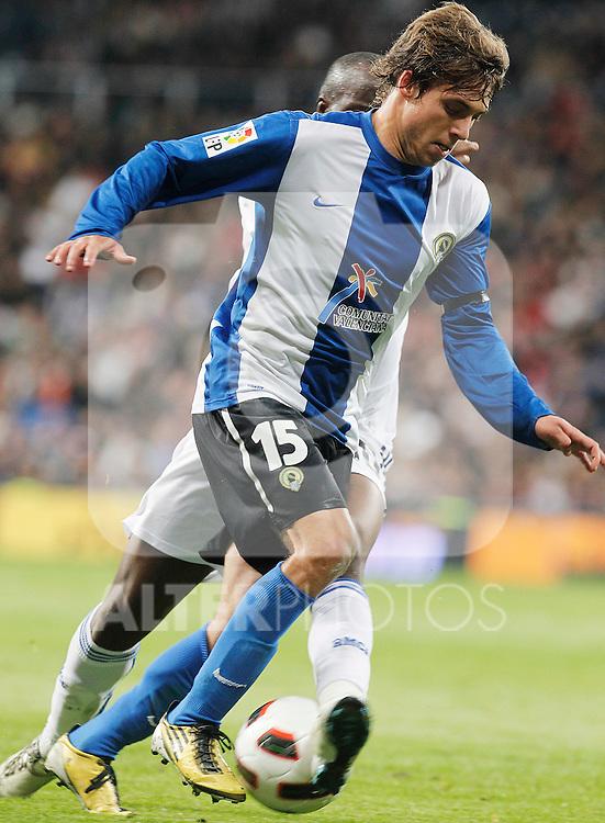 Hercules' Kiko Femenia Far during La Liga match.March 12,2011. (ALTERPHOTOS/Acero)