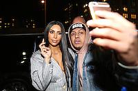NEW YORK, NY, 14.02.2017. - KIM-KARDASHIAN - Kim Kardashian é vista chegando na casa de Kanye West em Manhattan na cidade de New York nesta terça-feira, 14. (Foto: Vanessa Carvalho/Brazil Photo Press)