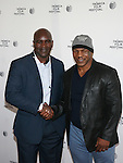 Boxing Champions Evander Holyfield and Mike Tyson Attend Tribeca Talks: After the Movie: Champs Held at SVA Theatre , NY