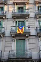 Spagna Barcellona bandiera separatista catalana  novembre 2012