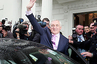 14/7/07  Taoiseach Bertie Ahern at Aras An Uachtarain to recieve his seal office. Picture:Arthur Carron/Collins