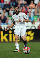 Jordi Amat of Swansea City during the Swansea City FC v Manchester City Premier League game at the Liberty Stadium, Swansea, Wales, UK, Sunday 15 May 2016