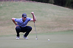 GREENSBORO, NC - OCTOBER 29: Duke's Jake Shuman on the 4th green. The third round of the UNCG/Grandover Collegiate Men's Golf Tournament was held on October 29, 2017, at the Grandover Resort East Course in Greensboro, NC.