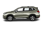 Car Driver side profile view of a 2019 Subaru Forester e-Boxer-Premium 5 Door SUV Side View