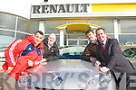 Munster rugby player Federico Pucciarello was in Tralee on Wednesday to pick up a car sponsored by Adams Garage Tralee. Pictured from left: Federico Pucciarello, Noel O'Connor, Des Adams and Mike Geoghegan.