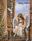 CHILDREN, KINDER, NIÑOS, paintings+++++,USLGSK0099,#K#, EVERYDAY ,Sandra Kock, victorian ,angels