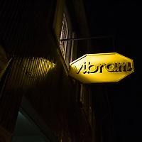FuoriSalone2010 Zona Tortona: Vibram show room. Le forme usate pewr produrre le scarpe con le dita.<br /> <br /> The sign above the entarnce show romm Vibram