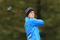 Marcus Kinhult (SWE) on the 14th tee during Round 4 of the Amundi Open de France 2019 at Le Golf National, Versailles, France 20/10/2019.<br /> Picture Thos Caffrey / Golffile.ie<br /> <br /> All photo usage must carry mandatory copyright credit (© Golffile | Thos Caffrey)
