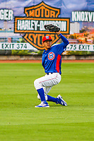 Tennessee Smokies outfielder Carlos Penalver (11) during a Southern League game against the Biloxi Shuckers on May 25, 2017 at Smokies Stadium in Kodak, Tennessee.  Tennessee defeated Biloxi 10-4. (Brad Krause/Krause Sports Photography)