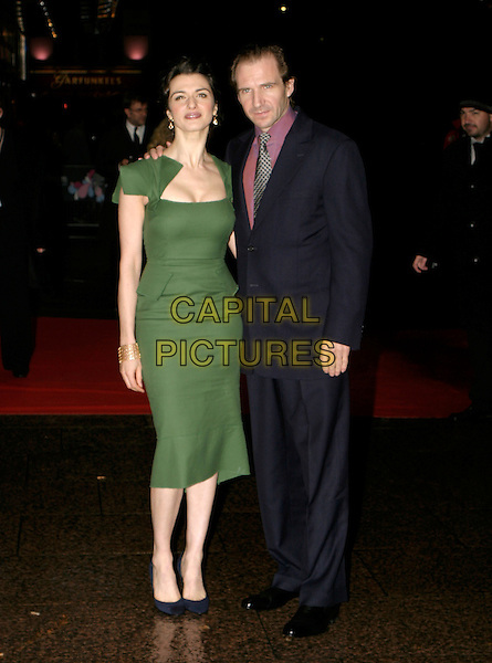 "RACHEL WEISZ & RALPH FIENNES.London Film Festival UK Premiere of ""The Constant Gardener"", opening night gala, London, UK..October 19th, 2005.Ref: AH.full length green dress blue suit.www.capitalpictures.com.sales@capitalpictures.com.© Capital Pictures."