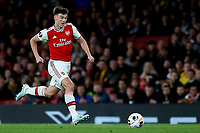 Kieran Tierney of Arsenal in action during Arsenal vs Standard Liege, UEFA Europa League Football at the Emirates Stadium on 3rd October 2019