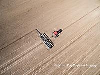 63801-10106 Farmer planting corn-aerial Marion Co. IL