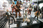 Star Wars action figures on display at the International Tokyo Toy Show 2016 in Tokyo Big Sight on June 9, 2016, Tokyo, Japan. The annual exhibition showcases some 35,000 toys from 160 toy makers from Japan and overseas. The show runs to June 12th and organisers expect to attract 160,000 visitors. (Photo by Rodrigo Reyes Marin/AFLO)
