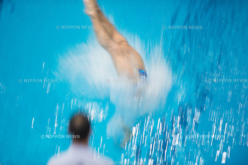 Oleg Kolodiy (UKR) in the 3m Men's Final at FINA Diving Grand Prix 2015 (Singapore) at the OCBC Aquatic Centre in Singapore on 17 Oct 2015. He took 4th position. (Photo by Haruhiko Otsuka/Aflo)