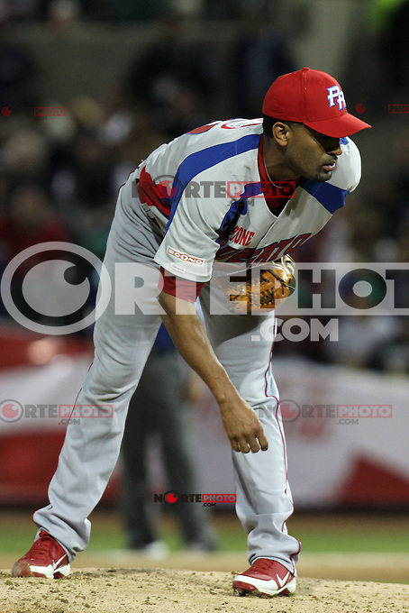 HERMOSILLO, Son. February 1, 2013. Bibens Austin of Puerto Rico during the game of the Caribbean series of Baseball Hermosillo 2013 between Puerto Rico and Mexico held at the Sonora Stadium. / Bibens Austin de Puerto Rico durante el juego de la Serie del Caribe de Beisbol, Hermosillo 2013 entre Puerto Rico y México celebrado en el Estadio Sonora. FOTOS:GermanQuintana