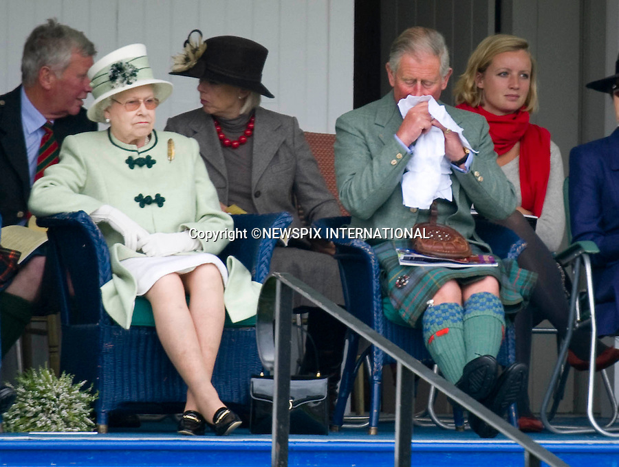 "Breamar Royal Highland Gathering 2010_.Attended by The Queen, Prince Phillip, Prince Charles and Princess Anne_04/09/2010.Mandatory Credit Photo: ©DIAS-NEWSPIX INTERNATIONAL..**ALL FEES PAYABLE TO: ""NEWSPIX INTERNATIONAL""**..IMMEDIATE CONFIRMATION OF USAGE REQUIRED:.Newspix International, 31 Chinnery Hill, Bishop's Stortford, ENGLAND CM23 3PS.Tel:+441279 324672  ; Fax: +441279656877.Mobile:  07775681153.e-mail: info@newspixinternational.co.uk"