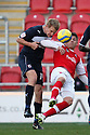 Alex Revell of Rotherham and Mark Roberts of Stevenage challenge. Rotherham United v Stevenage - FA Cup 1st Round - New York Stadium, Rotherham - 3rd November 2012. © Kevin Coleman 2012.