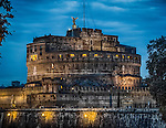 The Mausoleum of Hadrian, usually known as Castel Sant'Angelo, is a towering cylindrical building in Parco Adriano, Rome, Italy. It was initially commissioned by the Roman Emperor Hadrian as a mausoleum for himself and his family.