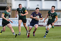 Matti Williams of London Scottish (2nd right) during the Greene King IPA Championship match between London Scottish Football Club and Nottingham Rugby at Richmond Athletic Ground, Richmond, United Kingdom on 15 April 2017. Photo by David Horn.