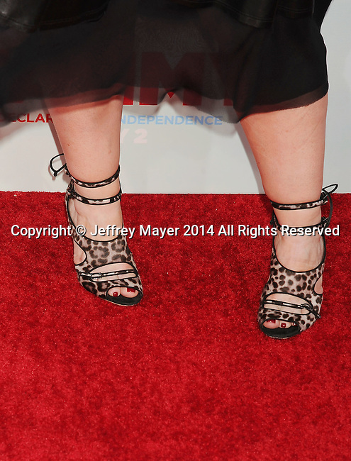 HOLLYWOOD, CA- JUNE 30: Actress Melissa McCarthy (shoe detail) at the 'Tammy' - Los Angeles Premiere at TCL Chinese Theatre on June 30, 2014 in Hollywood, California.