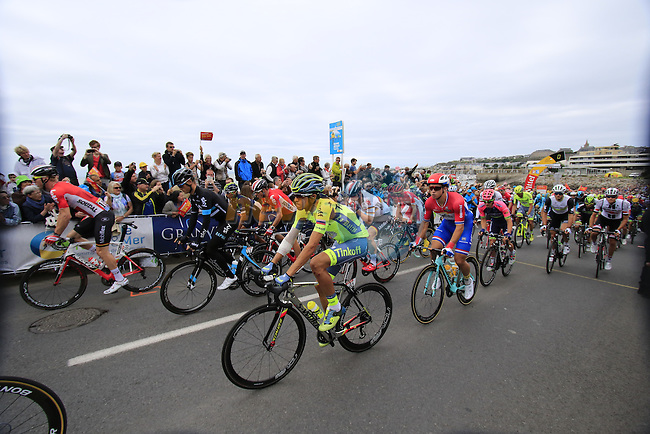 The start of Stage 3 of the 2016 Tour de France, running 223.5km from Granville to Angers, France . 4th July 2016.<br /> Picture: Eoin Clarke   Newsfile<br /> <br /> <br /> All photos usage must carry mandatory copyright credit (&copy; Newsfile   Eoin Clarke)