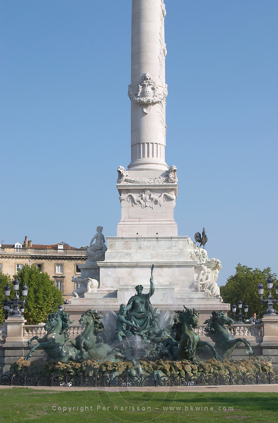 The Monument aux Girondins. Esplanade des Quinconces. Bordeaux city, Aquitaine, Gironde, France