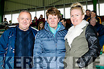 Sean, Ann and Agnes Maunsell, Kilmoyley supporters, pictured at the senior Hurling replay Kilmoyley v Ballyduff, held in Austin Stack Park, Tralee on Saturday evening last.